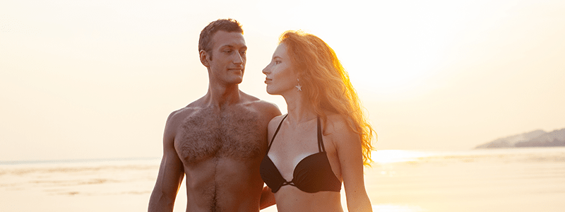 Sexy Couple At Beach